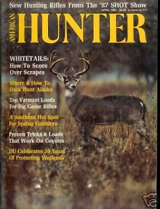 Primary image for American Hunter April 1987 Magazine