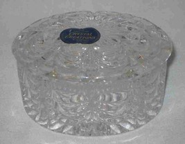 "Beautiful 3 3/4"" X 2 1/2"" X 3"" West Germany Lead Crystal Covered Trinket... - $38.52"