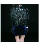 Norse Goddess Freya's Cloak of Falcon Feathers Front Ribbon Ties Cape Wa... - $143.95