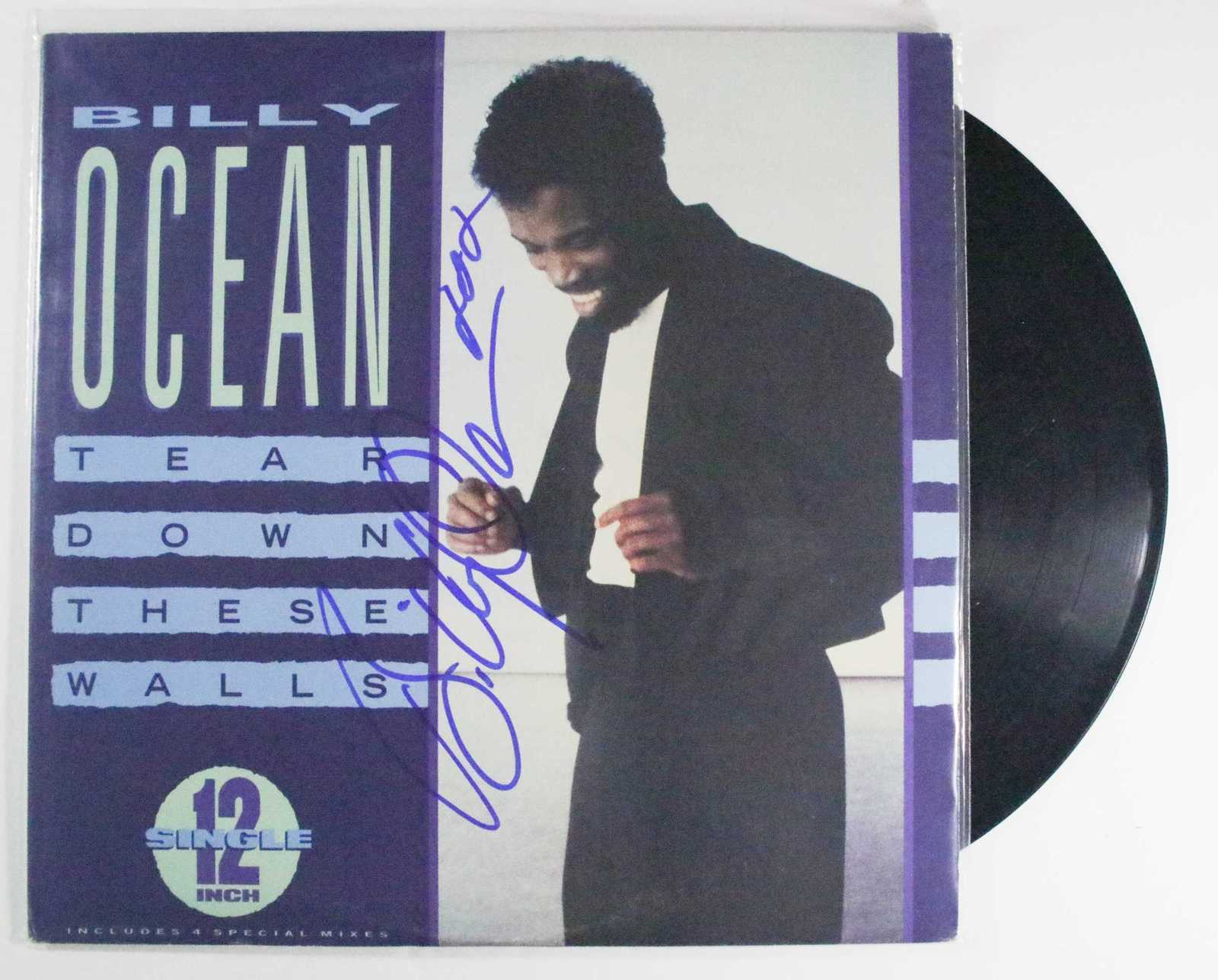 "Primary image for Billy Ocean Signed Autographed ""Tear Down These Walls"" Record Album"