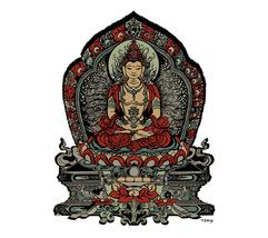 Buddha Double Sided Window Sticker Deadhead  Car Decal   - $5.49