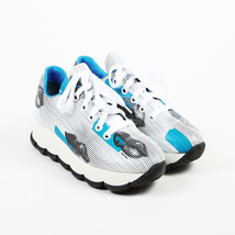 Prada Blue White Leather Lip Print Sneakers SZ 39 - $214.00