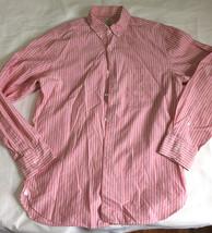 J.Crew striped shirt sz M front buttons cotton Sz M 15-15/12 - $16.82