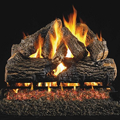 Peterson Real Fyre 24-inch Charred Oak Log Set With Vented Natural Gas Ansi Cert