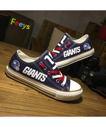 giants shoes womens sneakers new york fans fashion gift mens custom canv... - $59.99