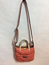 Fossil Key-Per ROSE Quilted Nylon & Leather Convertible Crossbody Messenger - $14.01