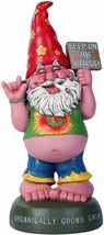 Pacific Giftware Hippie Gnome Pot Smoking Keep On Grass Garden Gnome Sta... - $36.62