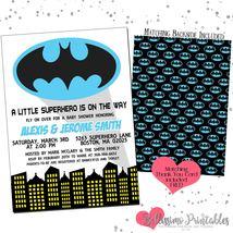 Batman Blue Boy Baby Shower Invitation PRINTABLE FREE thank you - $12.00
