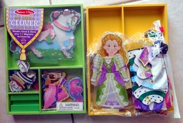 TOY Melissa & Doug Lot 2 MY HORSE CLOVER-PRINCESS ELISE  Wooden Magnetic... - $31.99