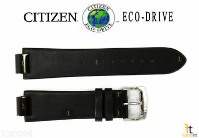 Primary image for Citizen Eco-Drive AU1065-07E 23mm Schwarz Leder Uhr Band Armband S086892