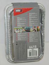 Weber 6415 Rectangular Foil Drip Pans Silver Color Set of 10 image 4