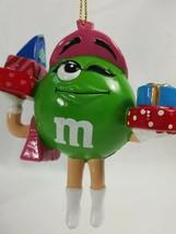 M&Ms Christmas Holiday Ornament Kurt S. Adler Green carrying presents ZE19 - $4.69