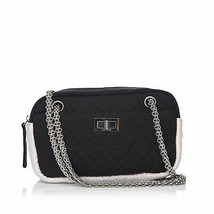 Pre-Loved Chanel Black Nylon Fabric Chain Shoulder Bag Italy - $850.89