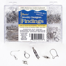 Darice Jewelry Findings Starter Kit with Caddy, Nickle Free Silver, 178 ... - $10.49