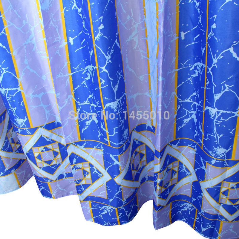 WIDEN Polyester Terylene Crack Waterproof Thicken Shower Curtains Bathroom Showe image 2