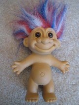 A Naked Good Luck Troll With Red, White & Blue Hair - $14.66