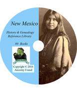 NEW MEXICO - History & Genealogy -80 Books on DVD - Ancestors, County, C... - $6.76