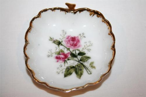 Set/4 Vintage LEFTON CHINA Numbered Rose Butter Pats #501