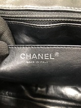 AUTHENTIC CHANEL BLACK QUILTED PATENT LEATHER JUMBO CLASSIC FLAP BAG SHW image 9