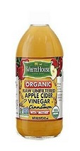 White House Organic Raw Unfiltered Apple Cider Vinegar with Cinnamon - $14.80