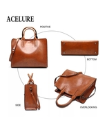 ACELURE Leather Handbags Big Women Bag High Quality Casual  Bags Fashion... - $49.99