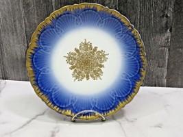 Antique D & Co France Limoges Cobalt Blue Gold Medallion Cabinet Plate 8... - $41.58