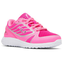 Fila Girl's Boomers Athletic Running Shoes Pink/White 2 Med US - €26,76 EUR