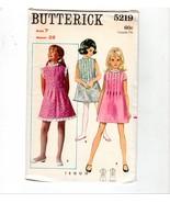 Vtg Butterick Girls Pintuck A-Line Dress #5219 Sewing Pattern Size 7 - $10.40