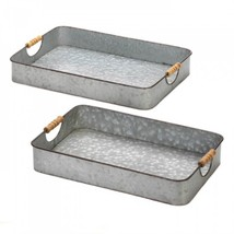 Galvanized Serving Trays - $95.95