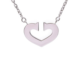 Cartier C Heart Necklace WG 7.4g Free Shipping 100% Authentic Japan bag - $1,174.20