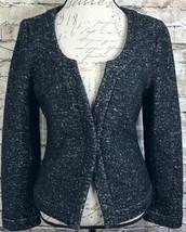 Banana Republic Black/White Italian Fabric Wool Blend Women's Blazer Sz ... - $102.59