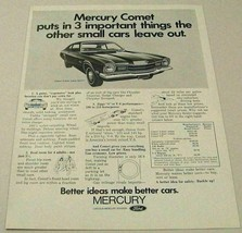 1971 Print Ad Mercury Comet 2-Door Sedan Better Ideas - $13.96