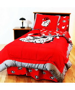Georgia Bulldogs Bed in a Bag & Valance Twin Full Queen King Comforter S... - $171.90+