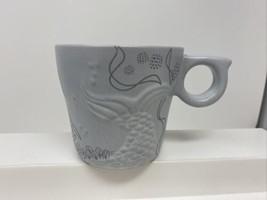 Starbucks 2016 Coffee Mug Cup 12oz Embossed Mermaid Siren Tail Anniversary - $22.76