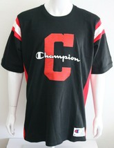 Champion Reverse Wave Mens Graphic Tee Black 100% Cotton Size XL T-Shirt - $26.15