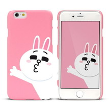 LINE Friends Character CONY Baby Pink iPhone 6/6S Hard Case Phone Cover ... - $37.39
