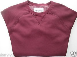 Sonoma GYM TO STREET Crewneck Long Sleeve Men' Sweater Maroon L $50  - $25.21