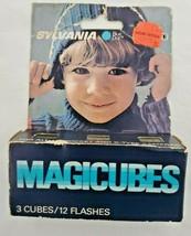 Sylvania Blue Dot MAGICUBES X-Pattern Camera Mount Sockets 3 Cube shows wear - $8.91