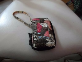 Vera Bradley all in one wristlet in Mocha Rouge pattern - $11.00