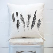 Feathers Farmhouse Pillow Cover - £14.44 GBP