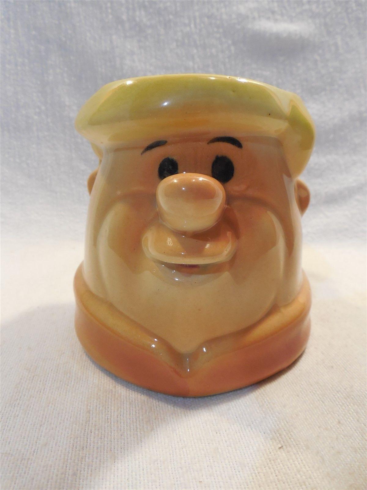 "Flintstones Ceramic Figural Barney Rubble Coffee Mug 4"" Tall"