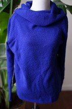 DKNY Jeans wool blend sz M blue cowlneck turtleneck sweater - $17.09