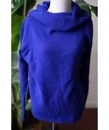 DKNY Jeans wool blend sz M blue cowlneck turtleneck sweater - $17.09