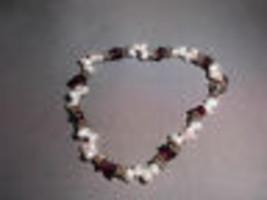 VTG Fresh Water Pearl, Silver & Amethyst Beaded Stone Bracelet - $19.80