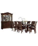 Licona Traditional 10PC Dining Set Double Pedestal Table, 2 Arm Chair, 6... - $4,250.19