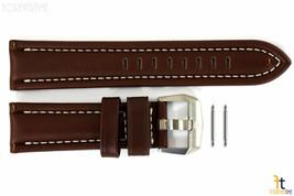 Luminox 9200 F-22 Raptor 24mm Brown Leather Watch Band w/ Ivory Stitching 9247 - $98.45