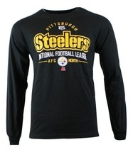 New Mens Black Long Sleeve NFL Apparel Pittsburgh Steelers Primary Recei... - $18.31