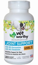 Vet Worthy Joint Support Liver Flavored Chewables for Dogs - 180 Count - Level 3 - $96.99