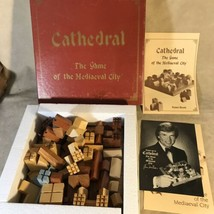 Cathedral the Game of the Medieval City 1978 Vintage Wood Pieces - $29.69