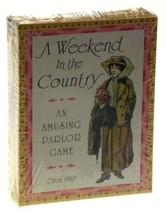 FG & Co A Weekend In The Country An Amusing Parlor Card Game USA Reprodu... - $7.19